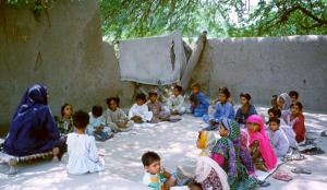 First Children's Class under a Tree